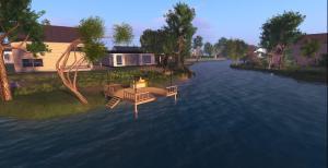 Little public deck, future entertainment area