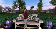 Yours Truly ~ there are some benches about for sitting and relaxing in between purchases :D